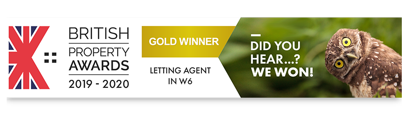 Latymers Letting Agents - British Property Awards 2019-2020 Gold Award for Letting Agent in W6